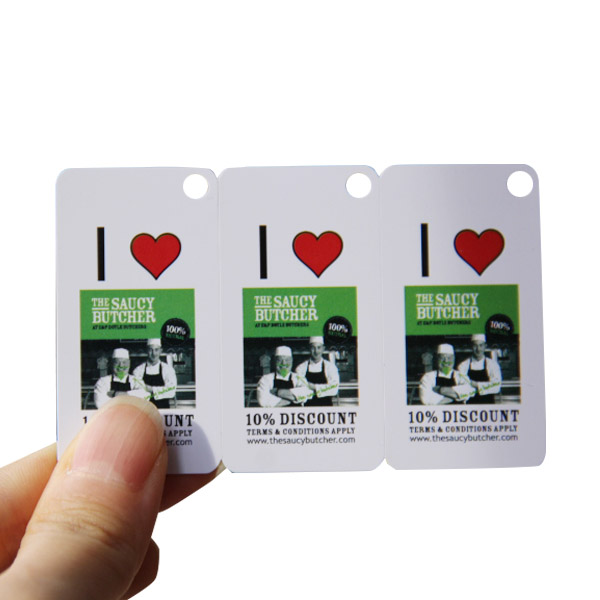 PVC 3-up Snap off card