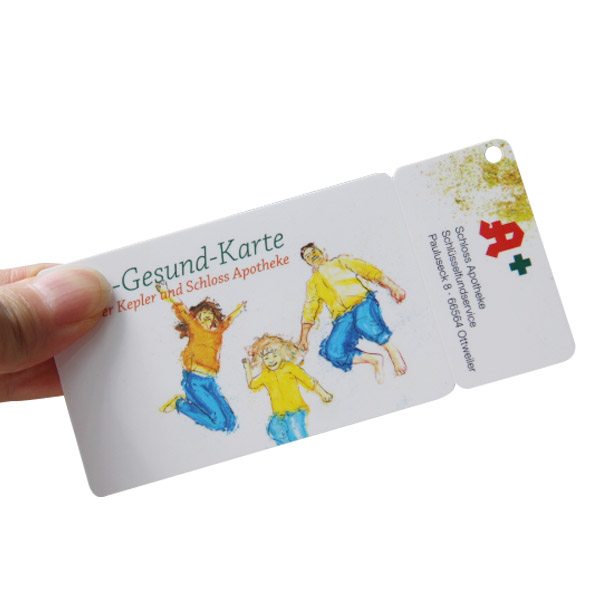 CMYK printing PVC Loyalty combo card