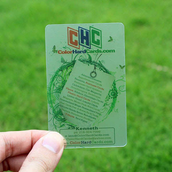 Manufacture high quality PVC Transparent card