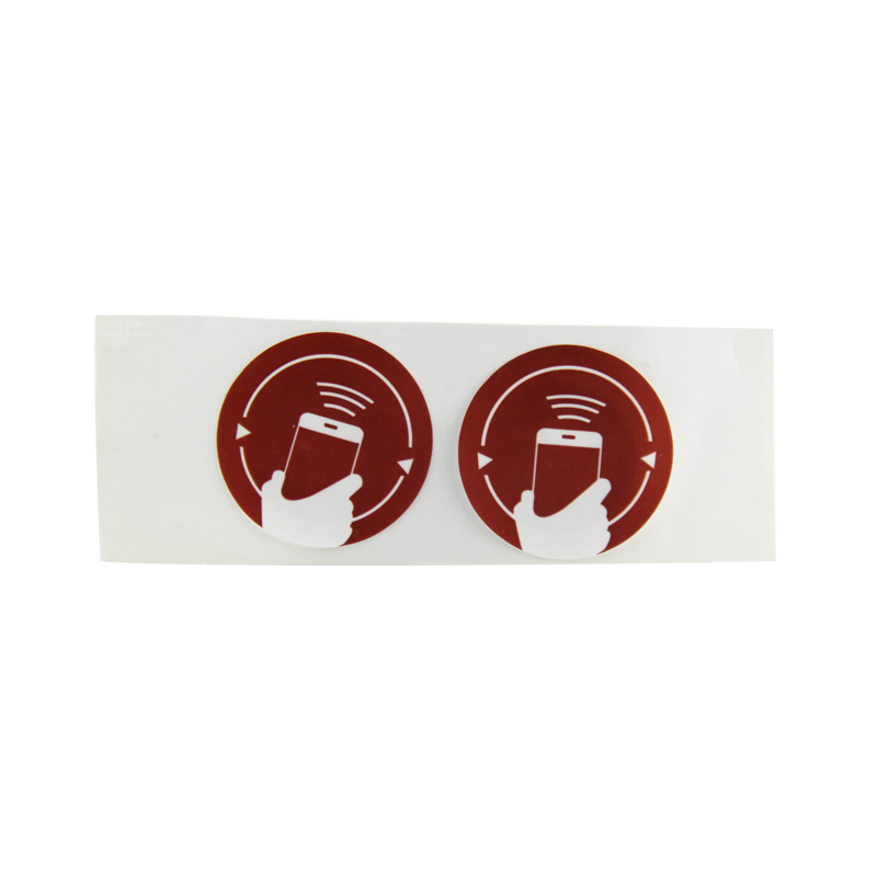 Circle 13.56MHZ passive rfid nfc tag for asset project | nfc labels