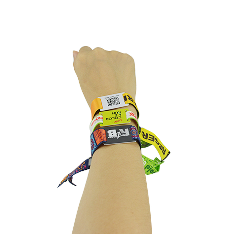 Fabric Bracelet Woven RFID Wristband for event